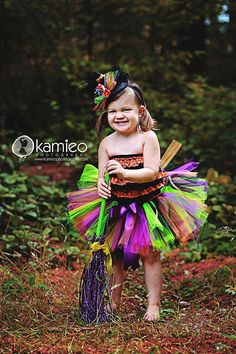 Tutu Costume Witch Tutu halloween set