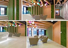 AstraZeneca is a foreign company that is committed, on a global scale, in research, development and marketing of ethical drugs. Verde Profilo has realized, in collaboration with Design It, on the project of Massive Desig Studio, a green wall with MOSSwall®, crossing lichen and wood.  #Nature #Wood #Poland #pharmaceutical #global #nobel #science #foreign #scientific
