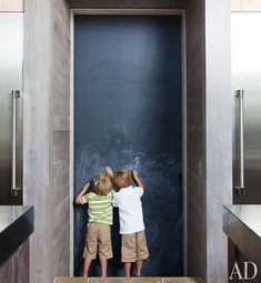 #chalkboard kitchen door