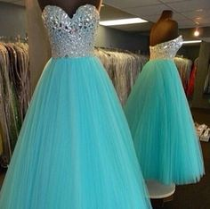 Tiffany blue sweet 16 / prom dress