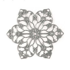 Silver Star Flower filagree 5 Pk by ScrapaliciousDelight on Etsy, $5.30