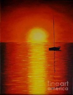 Sunset, Sunsets,Seascapes, Red Sunset painting,  Oil Paintings, Canvas Art, by Tina A Stoffel available at Fine Art America. Starting at $22. Ocean, Seascape, Oceans, Water, Sunset, Sunsets, Sailing, Sailboat, Sailboats, Painting, Print, Prints, Paintings, Canvas