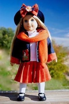 """Autumn Songbird Suit for 18"""" American Girl by Sharon 