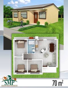 All Time Modern House Designs – My Life Spot 3d House Plans, House Blueprints, Bedroom House Plans, Dream House Plans, Modern House Plans, Small House Plans, Simple House Design, Modern House Design, Bungalow Haus Design
