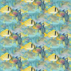 Fat Quarter Tropical Dreams Fish Cotton Quilting Fabric - SPX