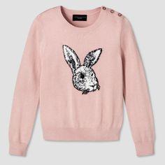 Girls' Blush Bunny Sweater XL - Victoria Beckham for Target, Pink