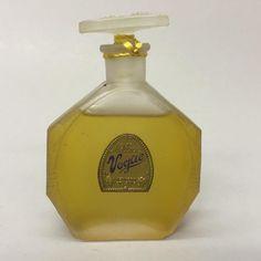 Mellier's Vogue Women's Perfume 90 Percent Full Bottle Foil Label & Original Box #Melliers