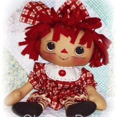 Rag Doll & Softie Patterns to Sew Soft Toys & Animals / Raggedy Rosie