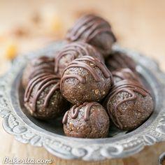 Gingerbread Energy Bites (No-Bake, Gluten Free, Paleo + Vegan) - Bakerita