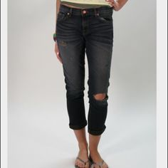 J Brand Aoki Tulum Brand Aoki distress jeans Excellent used condition. Worn once. Color ...