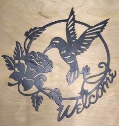 Metal Welcome Sign, Rustic Home Decor, Entryway Decor, Metal Wall Art Custom Wood Signs, Metal Signs, Funny Coasters, Diy Coasters, Metal Welcome Sign, Wood Burning Patterns, Scroll Saw Patterns, Dark Walnut Stain, Monogram Initials