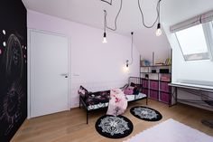 Children room with black chuck and mangetic wall to support children creativity