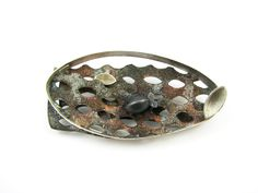 "Nataša Grandovec Silver and copper brooch "" sea life""."
