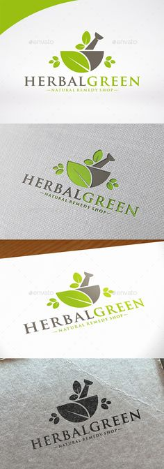 Herbal Medicine Logo Template by BossTwinsMusic - Three color version: color, greyscale and single color.- The logo is 100% resizable.- You can change text and colors very easy u