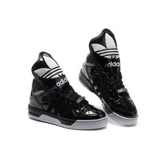 adidas jeremy scott metro attitude hi black and white crown-tongue
