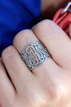 Monogrammed Ring Giveaway #MonogrammedMadness