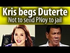 Kris Aquino contacts Duterte & begs not to send PNoy to jail because of Mamasapano ~Share - WATCH VIDEO HERE -> http://dutertenewstoday.com/kris-aquino-contacts-duterte-begs-not-to-send-pnoy-to-jail-because-of-mamasapano-share/   Kris Aquino contacts Duterte & begs not to send PNoy to jail because of Mamasapano. News video courtesy of The Storyteller YouTube channel  Disclaimer: The views and opinions expressed in this video are those of the YouTube Channel owners an