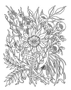 Detailed Garden Coloring Pages