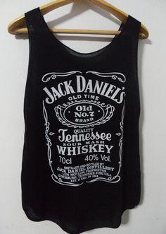 Jack Daniels tshirt logo lady shirt Tank Top by cottongoodshop, $12.00