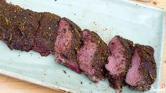 Wie grille ich einen Rehrücken oder ein rosa gegrillter Rehrücken vom (Gas-)grill mit einem asiatisch angehauchten Rub.