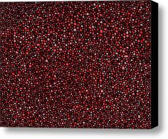 Red And Black Circles Digital Art - Stretched Canvas Print / Canvas Art By Janice Dunbar
