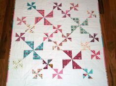 SALE 15 Off  Domestic Bliss Pinwheel Quilt by ShaShaLaRueQuilts