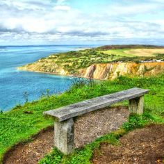 Seat with and Amazing View - Isle of Wight.  My husband's heritage.  Been there & loved it!