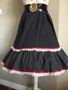 SHE IS ME  dotted skirt with a frill, 50th SHE IS ME