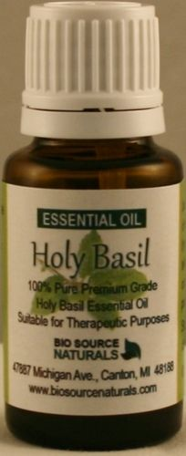 Holy Basil Essential Oil $7.15 In Ayurvedic medicine, Tulsi is used for common colds, headaches, inflammation. Holy Basil Tulsi helps the body adapt to stress and restore balance. It has recently been studied and found effective for high cholesterol levels, stress, wound healing, chronic fatigue syndrome, arthritis, memory, eczema.  Apply 1-2% in a carrier oil for application.