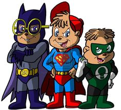 alvin and the chipmunks cartoon drawings | Chipmunk Justice Team by Peacekeeperj3low