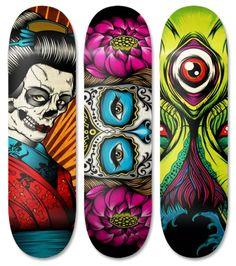 Pale Horse is a Graphic Design Studio founded by Chris Parks. Skateboard Deck Art, Skateboard Design, Skateboard Pictures, Tenacious D, Longboard Design, Posca Art, Pale Horse, Skate And Destroy, Cool Skateboards