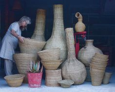 Xhosa baskets, woven in the Eastern Cape, South Africa. www.designafrika.co.za Photo ©afrikani@ymail.com