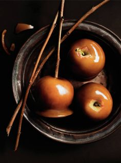 Apples wrapped in caramel....where are the Heath Bar crumbles, chocolate chips & nuts Kate?