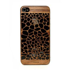 iPhone 4 Cover V2 Walnut, $21, now featured on Fab.