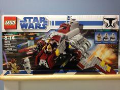 Lego Star Wars Republic Attack Shuttle 8019 Mace windu Clone Trooper Clone Pilot