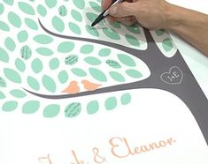 Wedding Tree Guest Book / Personalized Signature Tree Guestbook Art Print / Choose your Colors by jennasuedesign on Etsy Wedding Tree Guest Book, Guest Book Tree, Tree Wedding, Diy Wedding, Wedding Day, Wedding Songs, Wedding Reception, Personalized Books, Personalized Wedding