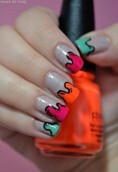 Dripping Paint Nails