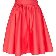 Pink high waisted full skirt
