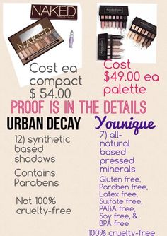 Wow, pretty impressive comparison!! I'd also add that UD tends to have more sparkle to their shimmer shades than Younique, causing a lot of us women in our 30's + to shy away from those palettes, while Younique's shimmers are just true shimmer without sparkly looking!