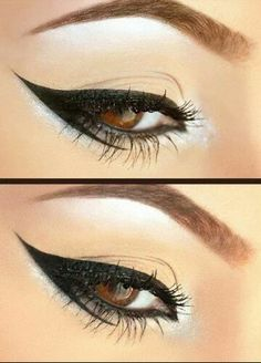 Black eyeliner with white