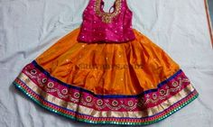 Orange Sequins Work Lehenga - Indian Dresses