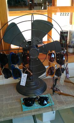 sunglasses/beach fan combo #retail #display #merchandising