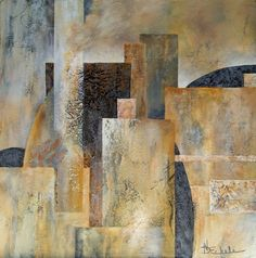 Urban Canyon by California artist Nancy Eckels - abstract, contemporary, modern art, painting, painting by artist Nancy Eckels