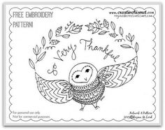 11090056225_8ea0546eb1_z   - free Owl embroidery pattern
