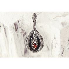 Secret Forest Pendant, Tree Branches, Goth Jewelry Garnet, Red Stone,... ($98) ❤ liked on Polyvore featuring jewelry, pendants, red jewellery, goth jewelry, charm pendants, sterling silver charms pendants and stone pendant