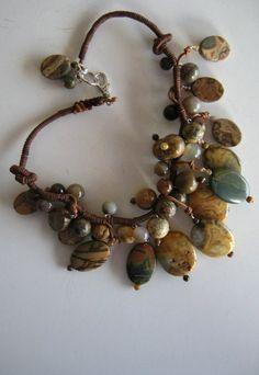 Crazy Lace Pendant Necklace #beads #boho #jewelry