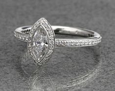 Five magnificent marquise engagement rings   via Ritani Blog
