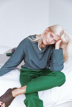 Off-duty look by model Larissa Hofmann
