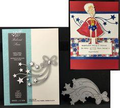 BELOVED STARS metal craft die 99056 Memory Box cutting dies patriotic star bow #MemoryBox