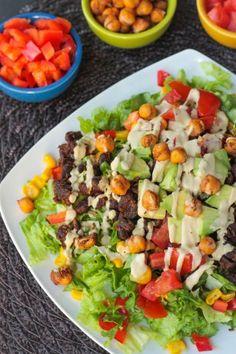 Black Bean Taco Salad ~ Veggie Inspired